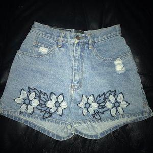 Zip Code brand jean shorts